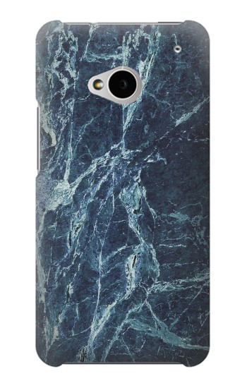 Printed Light Blue Marble Stone Texture Printed HTC One M7 Case