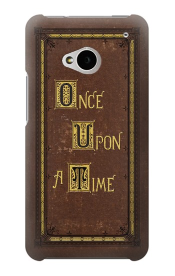 Printed Once Upon a Time Book Cover HTC One M7 Case