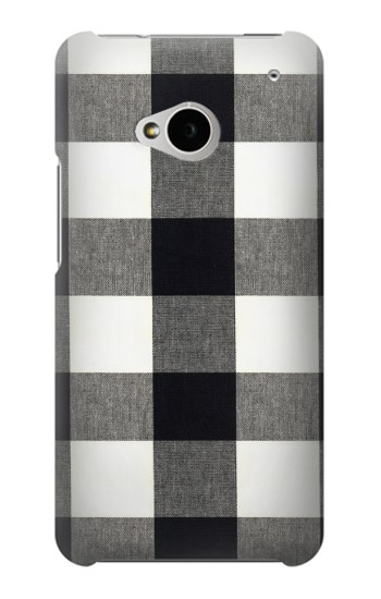 Printed Black and White Buffalo Check Pattern HTC One M7 Case