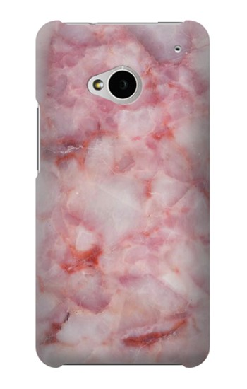 Printed Pink Marble Texture HTC One M7 Case
