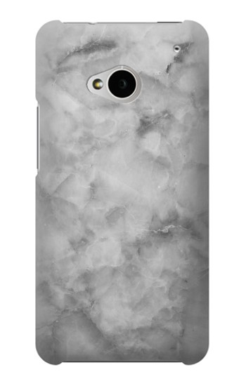 Printed Gray Marble Texture HTC One M7 Case