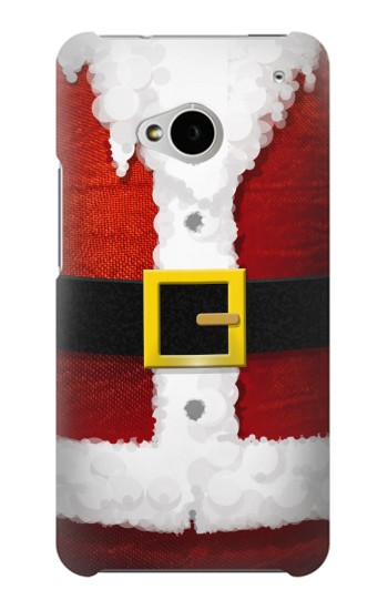 Printed Christmas Santa Red Suit HTC One M7 Case