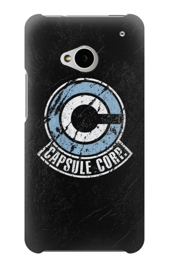 Printed Dragon Ball Capsule Corporation Black Rock HTC One M7 Case