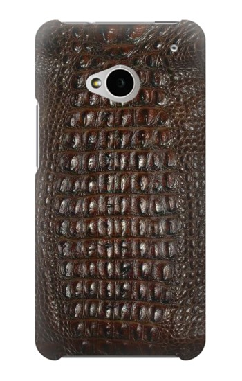 Printed Brown Skin Alligator Graphic Printed HTC One M7 Case