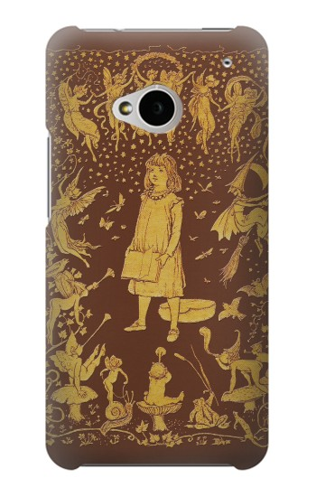 Printed Brown Fairy Book Cover HTC One M7 Case
