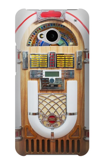 Printed Jukebox Music Playing Device HTC One M7 Case