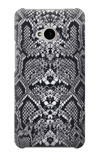 Printed White Rattle Snake Skin HTC One M7 Case