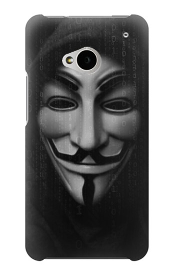 Printed Matrix Anonymous Mask Hacker HTC One M7 Case