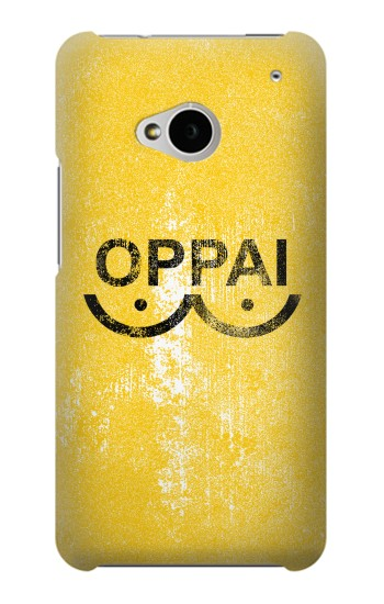 Printed Oppai One-Punch Man Symbol HTC One M7 Case