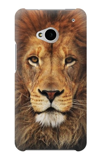 Printed Lion King of Beasts HTC One M7 Case