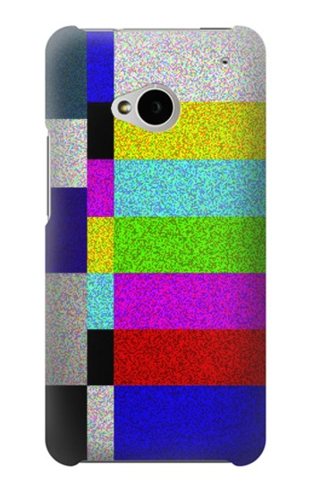 Printed Noise Signal TV HTC One M7 Case