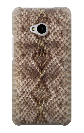 Printed Rattle Snake Skin HTC One M7 Case