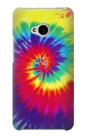 Printed Tie Dye Fabric Color HTC One M7 Case