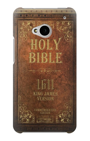Printed Holy Bible 1611 King James Version HTC One M7 Case