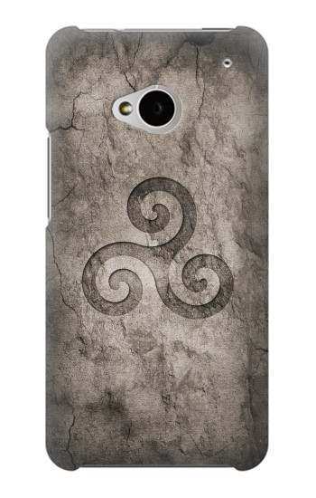 Printed Triskele Symbol Stone Texture HTC One M7 Case