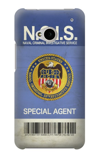 Printed NCIS Badge ID Card HTC One M7 Case
