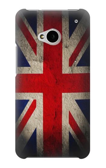 Printed Vintage British Flag HTC One M7 Case