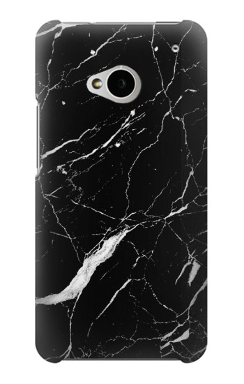 Printed Black Marble Graphic Printed HTC One M7 Case
