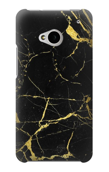 Printed Gold Marble Graphic Printed HTC One M7 Case