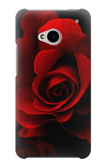 Printed Red Rose HTC One M7 Case