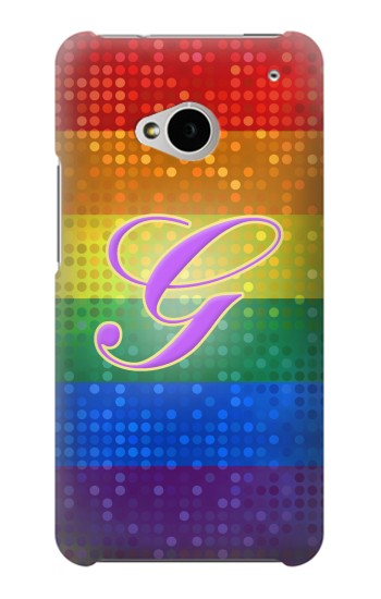Printed Rainbow Gay Pride Flag Device HTC One M7 Case
