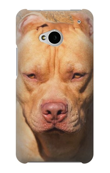 Printed American Pitbull Dog HTC One M7 Case