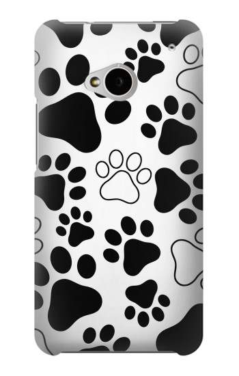 Printed Dog Paw Prints HTC One M7 Case