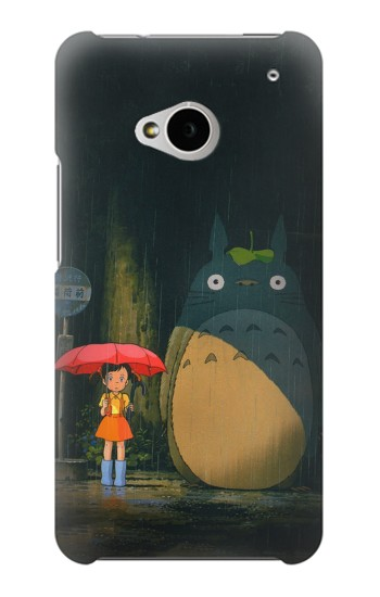 Printed Totoro Bus Stop HTC One M7 Case