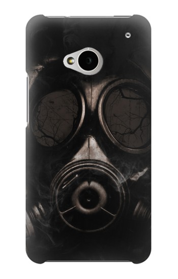 Printed Gas Mask HTC One M7 Case
