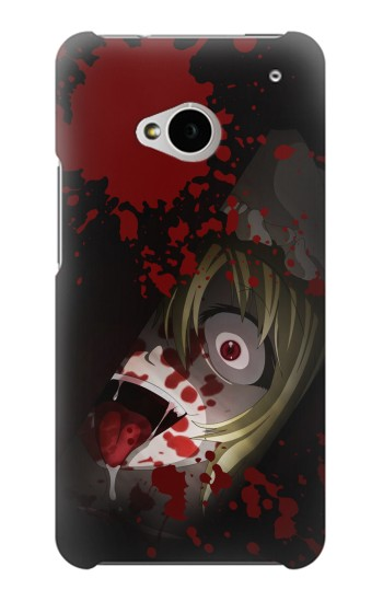 Printed Creepy Blood Splatter HTC One M7 Case