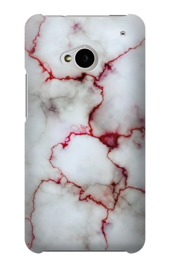 Printed Bloody Marble HTC One M7 Case