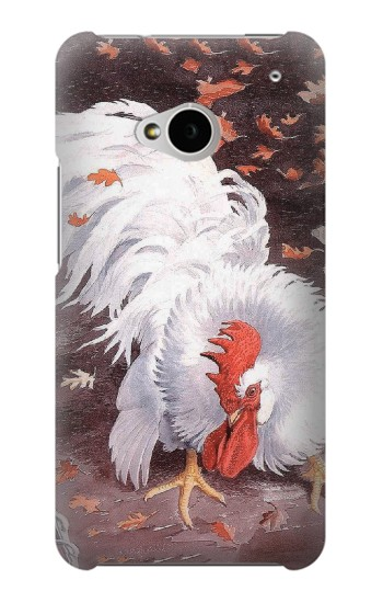Printed Leghorn Cockerel Rooster HTC One M7 Case