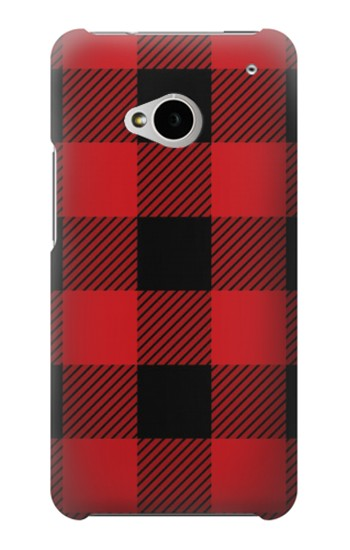 Printed Red Buffalo Check Pattern HTC One M7 Case