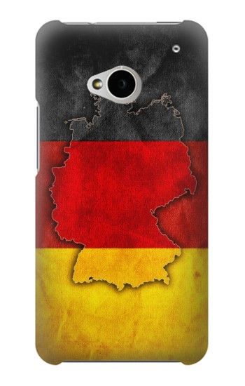 Printed Germany Flag Map HTC One M7 Case