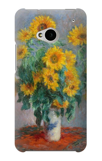 Printed Claude Monet Bouquet of Sunflowers HTC One M7 Case