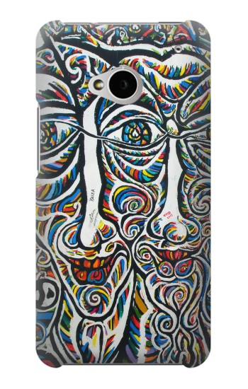 Printed Colorful Faces Berlin Wall HTC One M7 Case