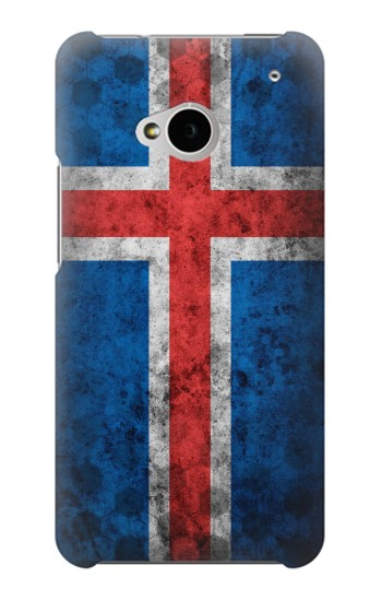 Printed Iceland Football Flag HTC One M7 Case