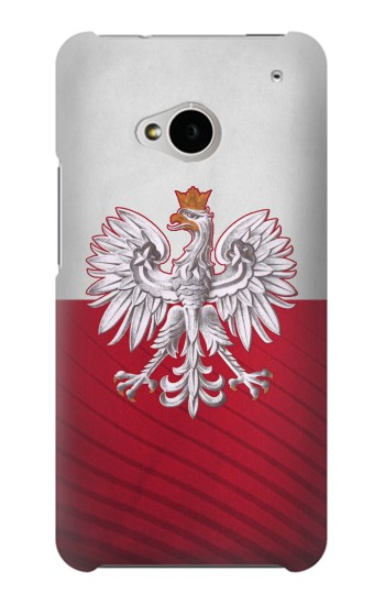 Printed Poland Football Flag HTC One M7 Case