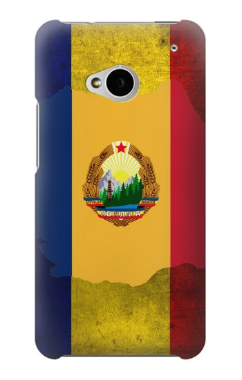 Printed Romania Flag HTC One M7 Case