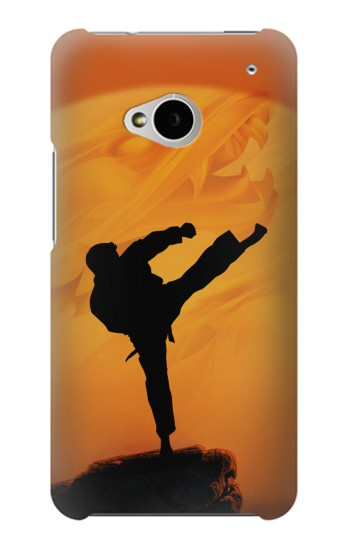 Printed Kung Fu Karate Fighter HTC One M7 Case