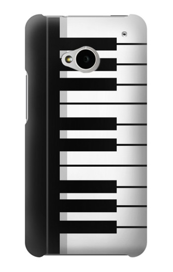 Printed Black and White Piano Keyboard HTC One M7 Case