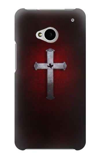 Printed Christian Cross HTC One M7 Case