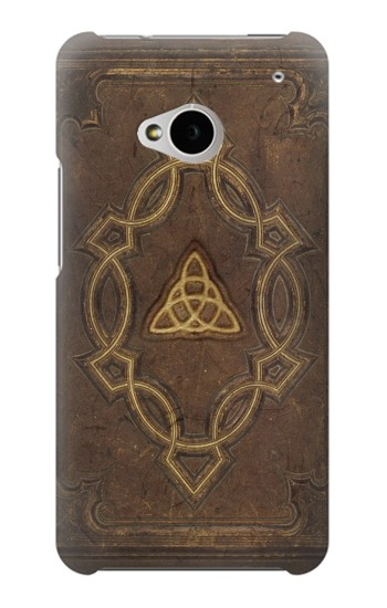 Printed Spell Book Cover HTC One M7 Case