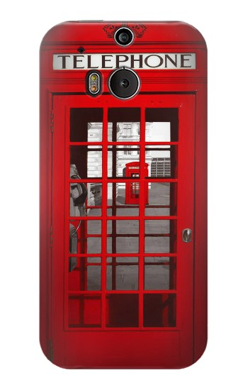 Printed Classic British Red Telephone Box HTC One M8 Case
