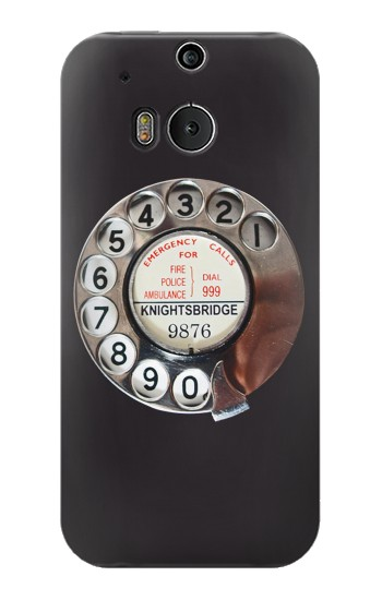 Printed Retro Rotary Phone Dial On HTC One M8 Case