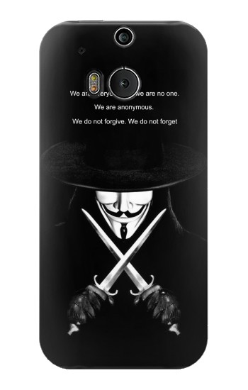 Printed V Mask Guy Fawkes Anonymous HTC One M8 Case