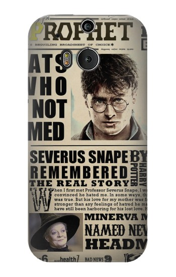 Printed Harry Potter Daily Prophet HTC One M8 Case