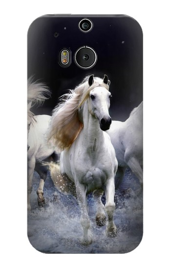 Printed White Horse HTC One M8 Case