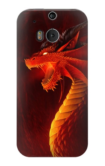 Printed Red Dragon HTC One M8 Case