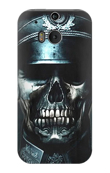 Printed Skull Soldier Zombie HTC One M8 Case